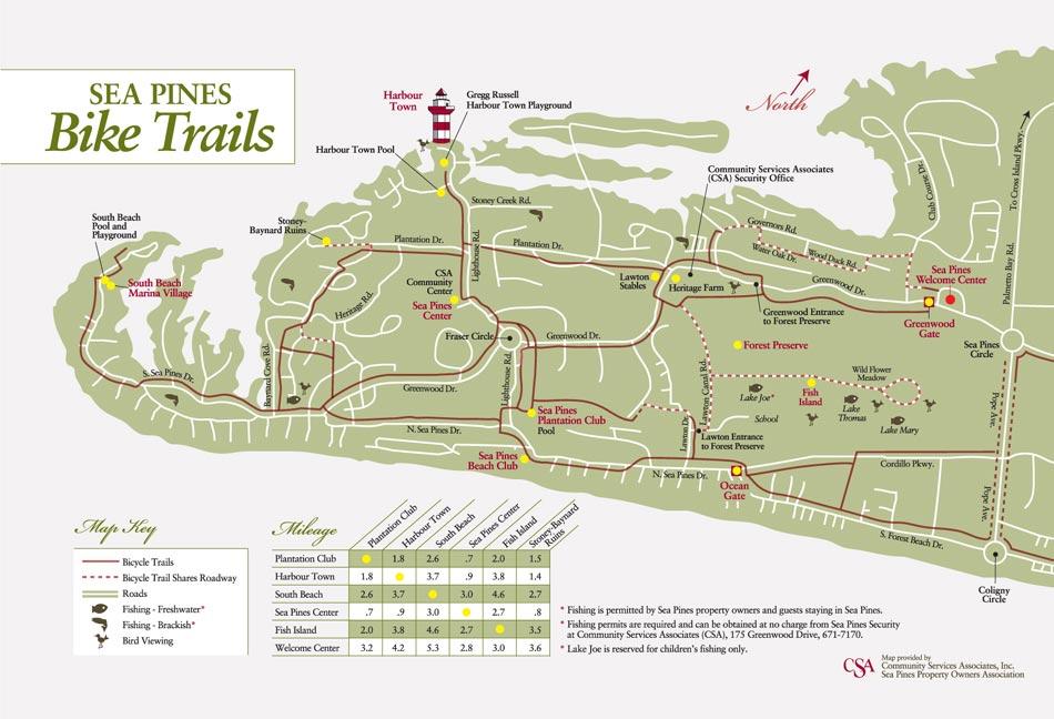 Image Result For Hilton Head Island Bike Trail Map