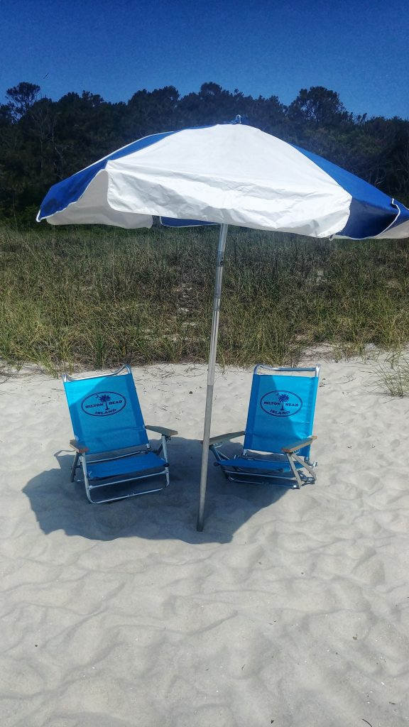 Beach Umbrella Chair Combo At Vacation Comfort Rentals