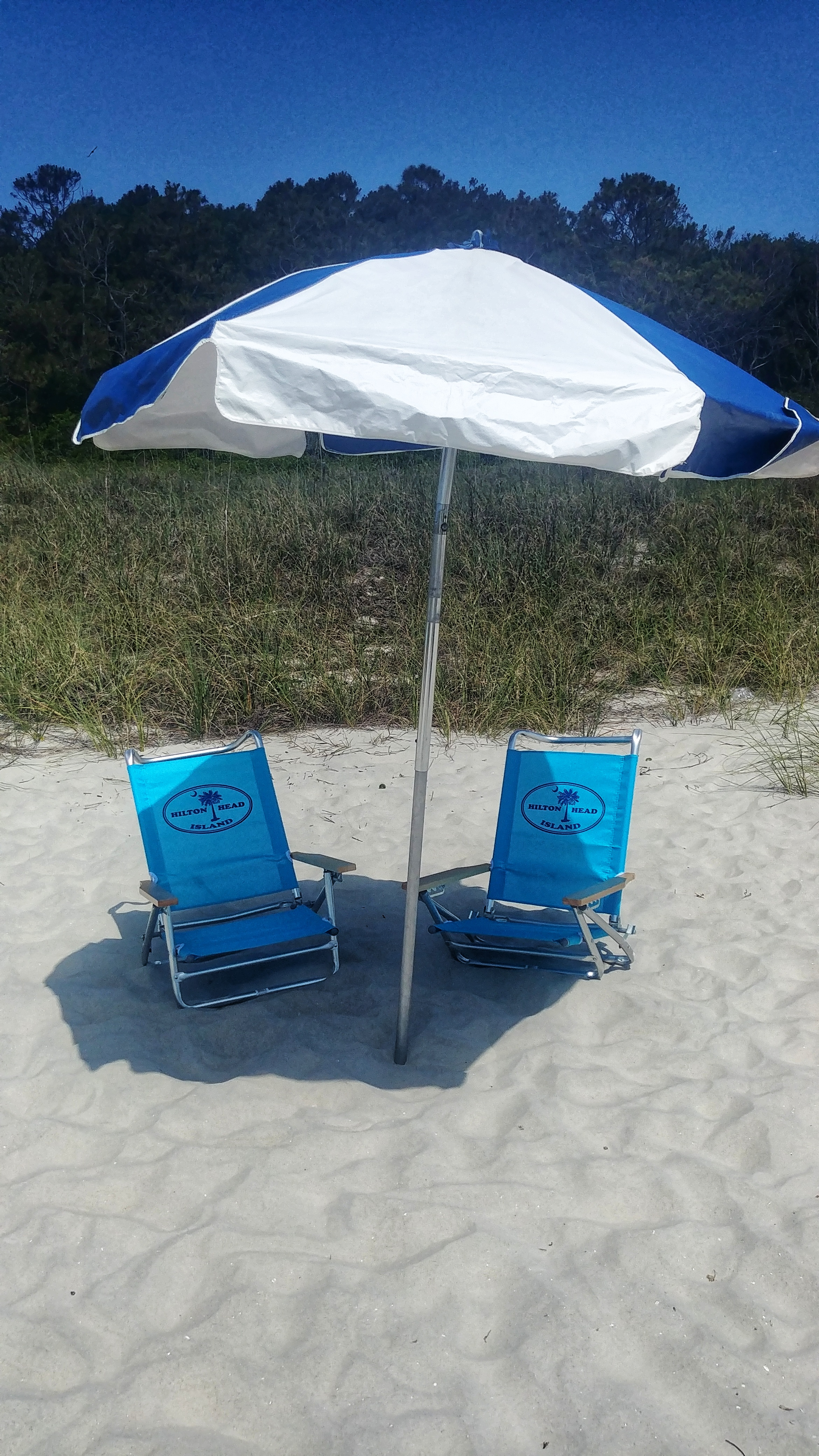 Beach Umbrella Chair Combo